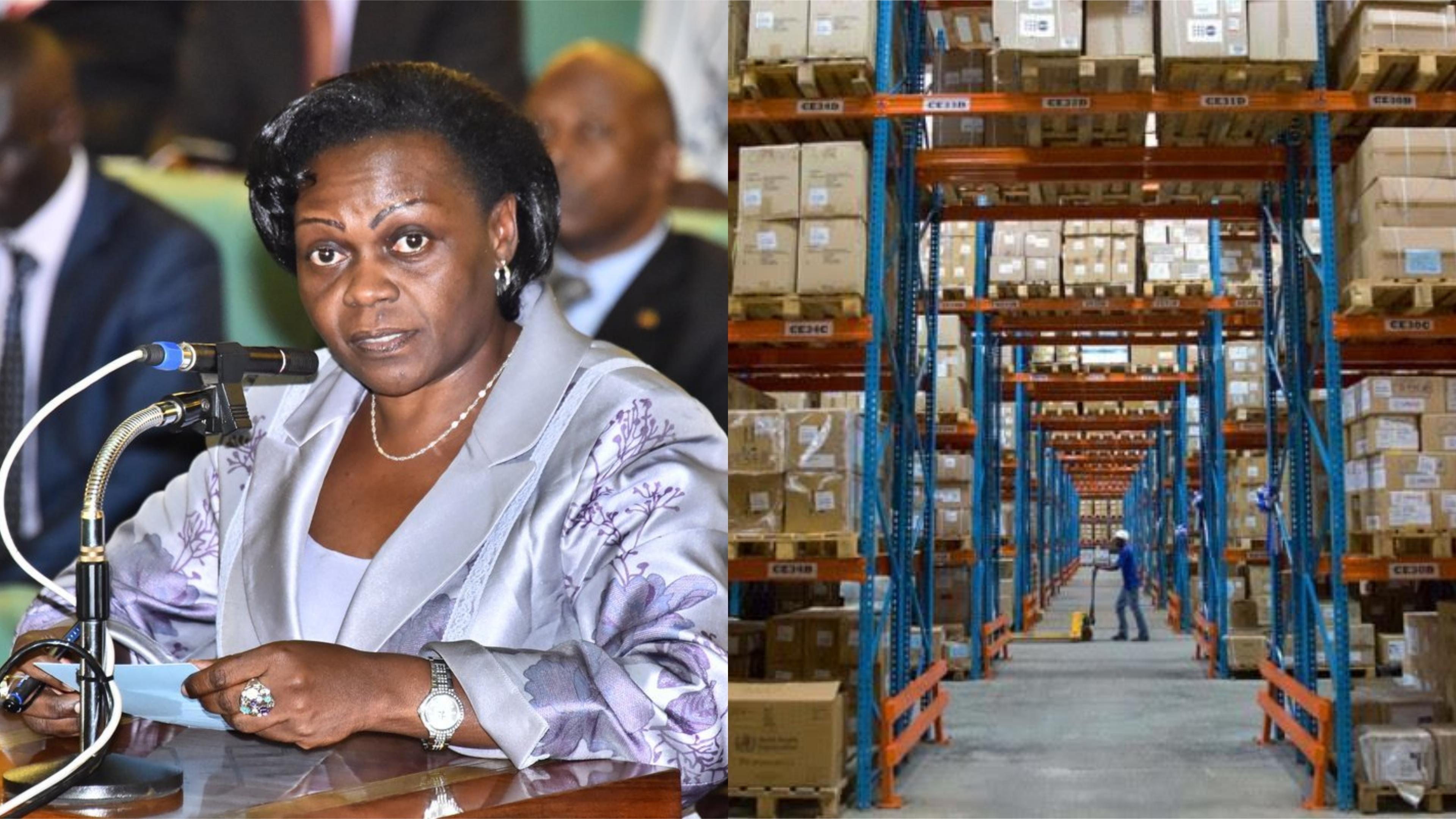 State Minister of Health-General Duties, Sarah Opendi has warned that the continued freezing of National Medical Stores' accounts will crippled the Medical supply chain (FILE PHOTO)