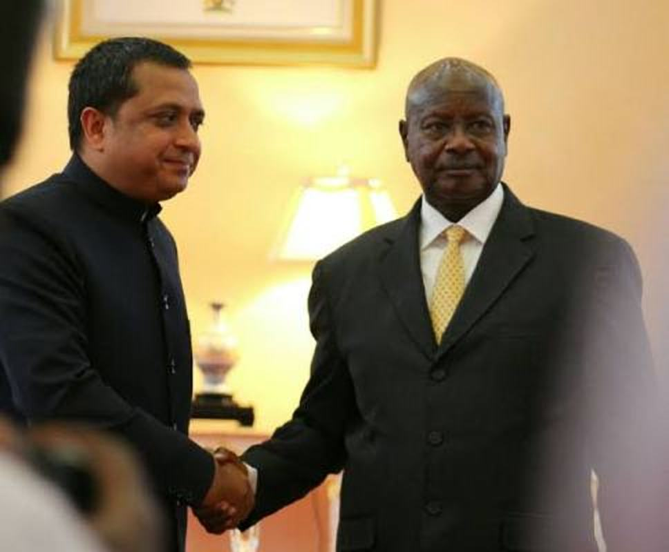 Indian High Commissioner to Uganda Ravi Shanka meeting President Museveni at State House recently. Sections of the Indian community in Uganda have accused him of messing up preparations for the visit of the Indian Prime Minister slated for July 24. (FILE PHOTO)