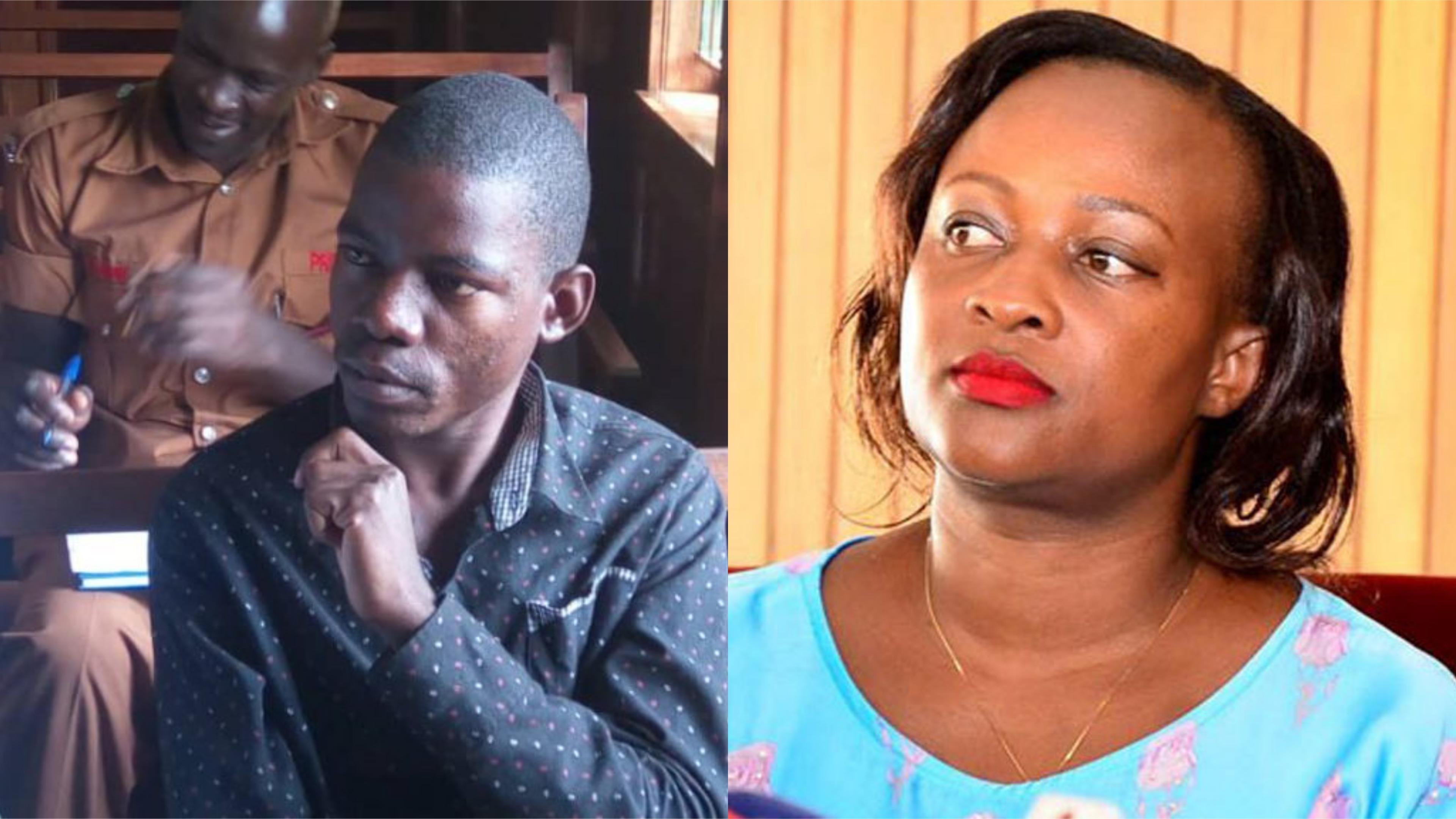 The case involving Kabarole MP, Sylvia Rwaboogo (R) and a YMCA student Brian Isiko has been forwarded to the Hgh Court for interpretation (FILE PHOTO)
