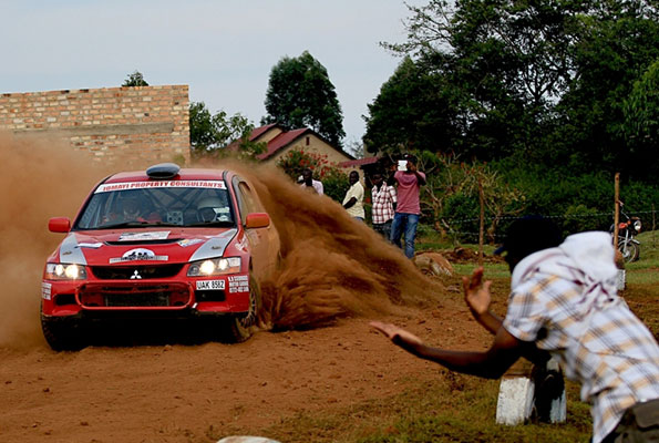 Ronald Ssebuguzi was one of the driver that also got a boost at the launch of the Pearl of Africa Rally