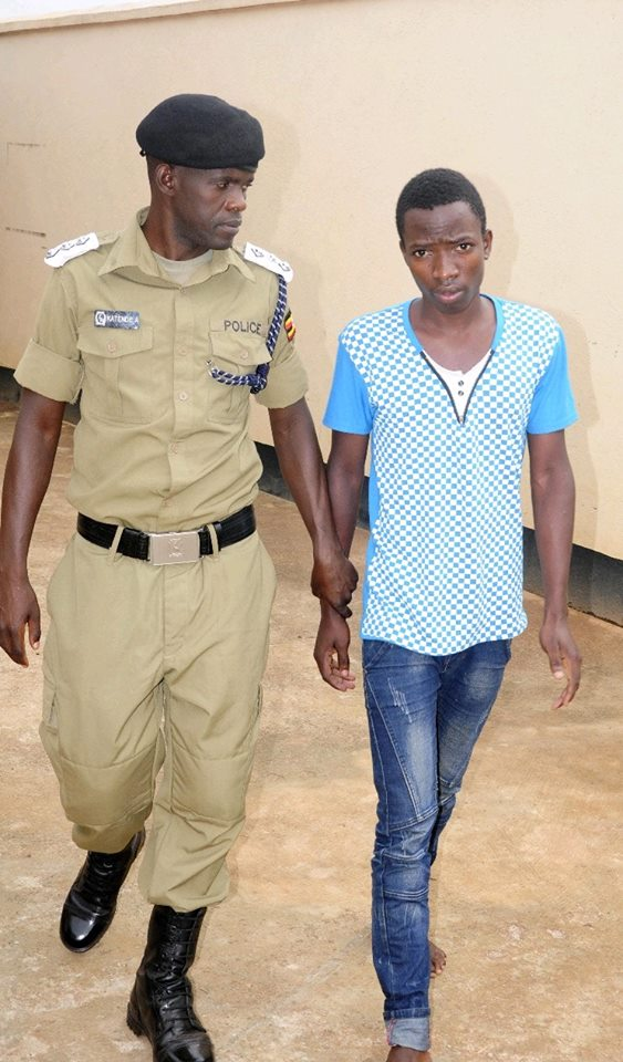 Taibu Semakula commonly known as Shafick was July 6 remanded over kidnap and murder allegations of his siblings. (PHOTO:PPU)