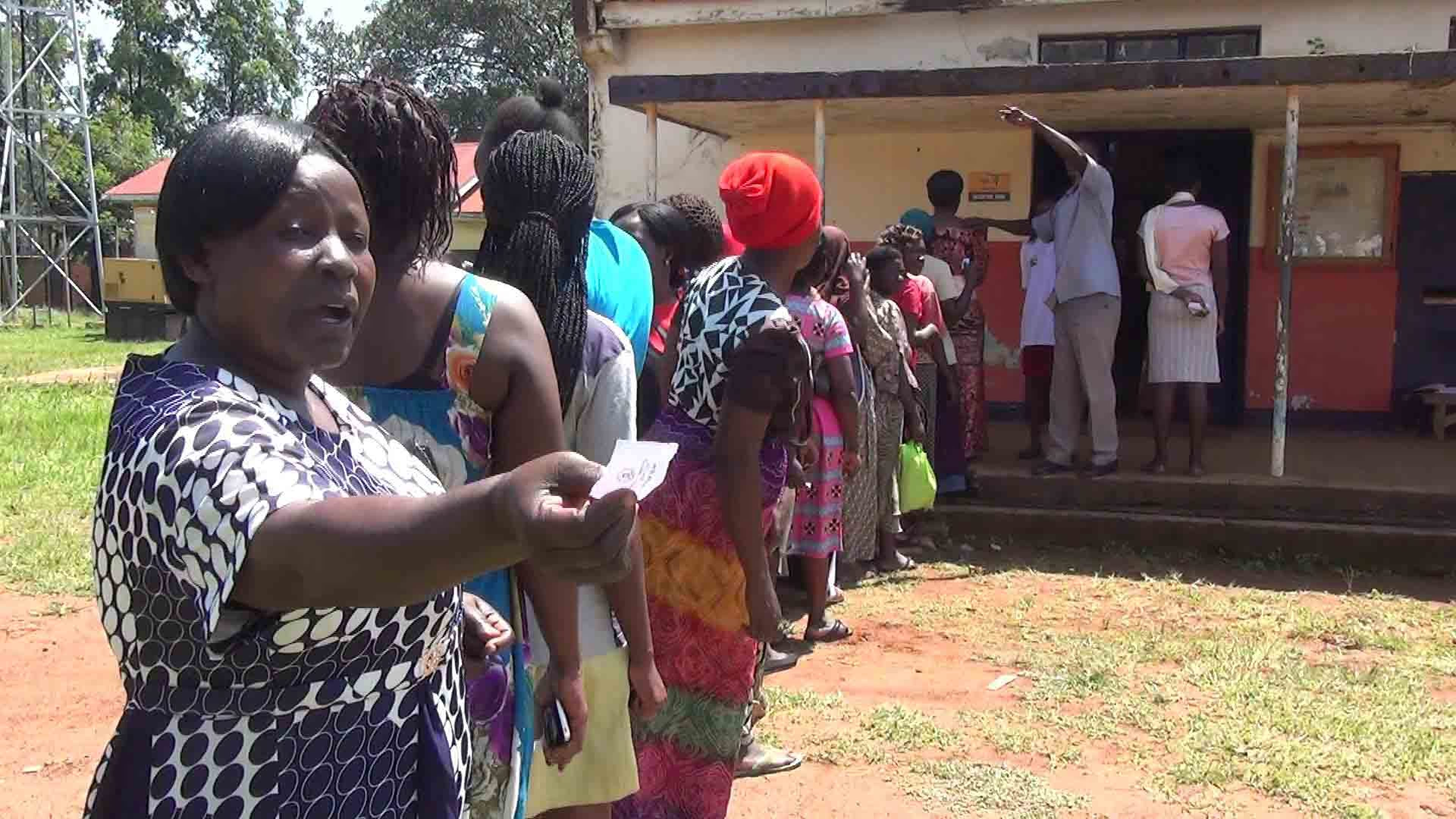 Women line-up to choose leaders in Kamuli Municipality. The Women council elections have been marred by low turn-up and the question of representation stands unclear (FILE PHOTO)