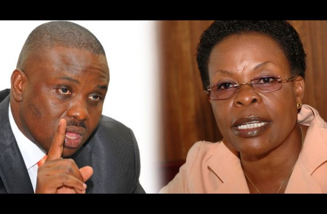 The Lord Mayor Elias Lukwago had applied to court to summon the minister for Kampala Beti Kamya to explain why she declared the authority meetings illegal among others. High Court  Judge Henrietta Wolayo however ruled that Beti Kamya is not compellable to appear in Court but rather can appear voluntarily to justify her actions of the claim. (FILE PHOTO)
