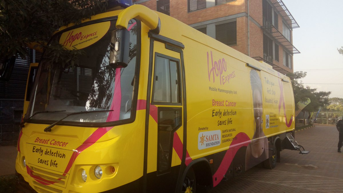 Indian government has donated a mobile mammography van to the Uganda Cancer Institute