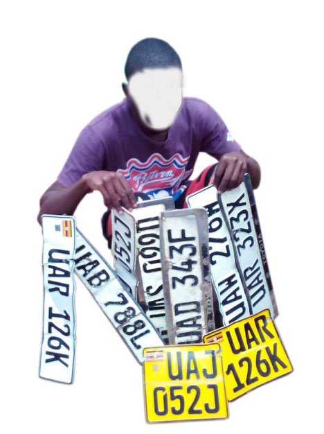 The suspects in theft of number plates are from Nansana town arrested. (FILE PHOTO)
