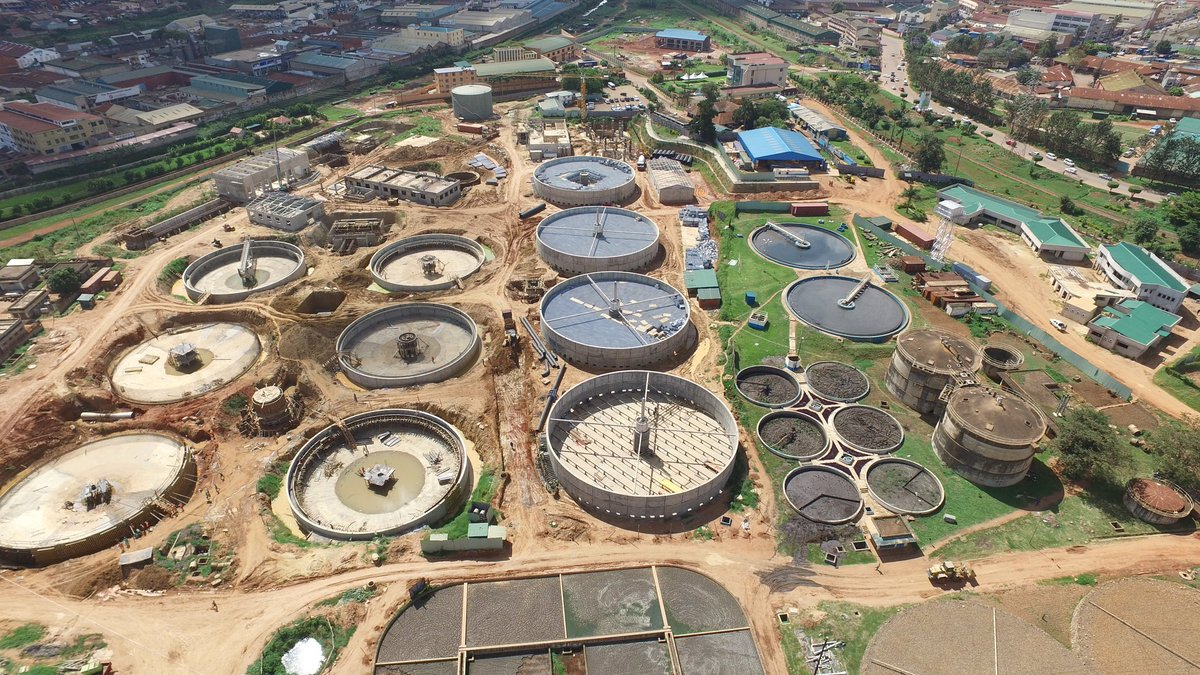 The largest sewage treatment plant in East and Central Africa under construction in Wankoko - Bugolobi (FILE PHOTO)