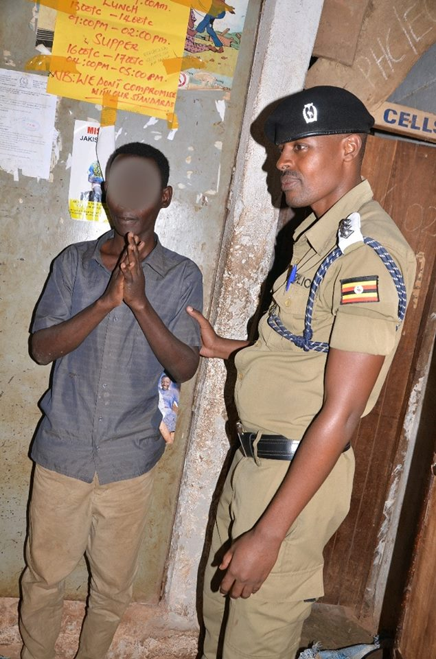 26 Anthony Kayondo, a primary teacher arrested for defiling a 8-year old girl he was hired to coach.(PHOTO:PPU)