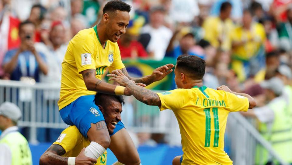Brazil defeated Mexico on Monday to match into the quarter finals