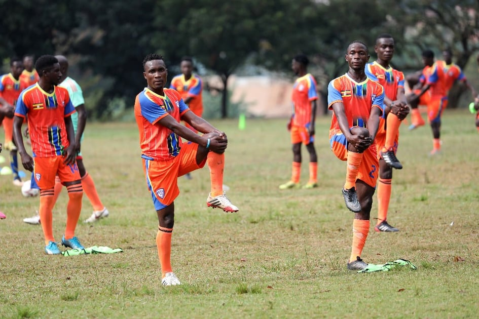 Wakiso Giants players in training on Wednesday (Photo by Wakiso Giants Media)