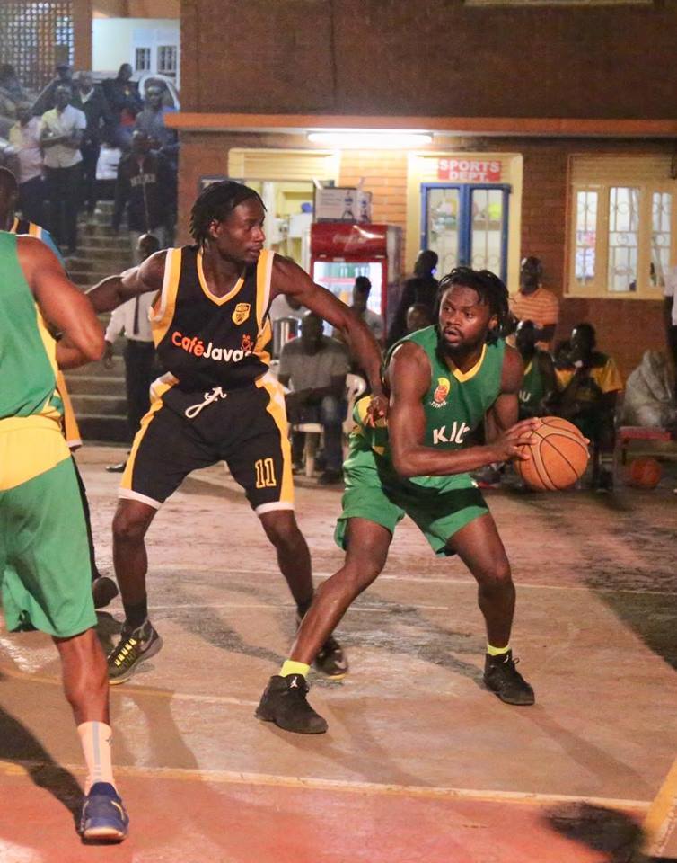 KIU's Micheal Bwanga (right) top scored on the night with 20 points. (Photo by FUBA Media)