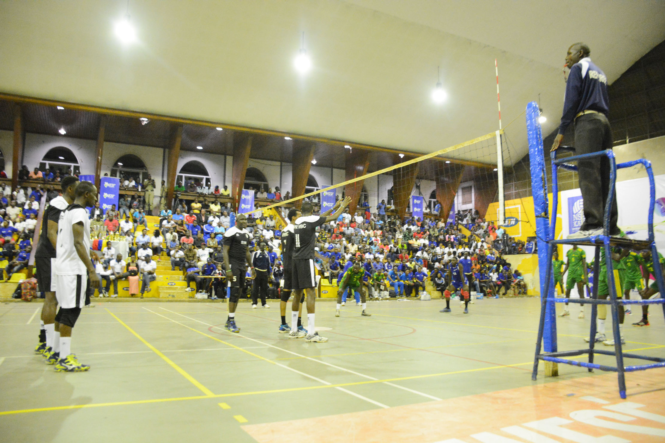 The KAVC-NSSF serves off on Friday evening at the MTN Arena in Lugogo (File Photo)