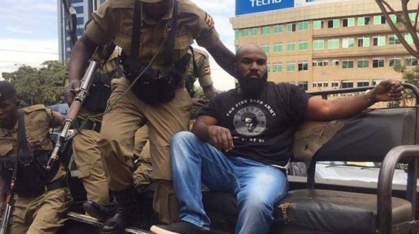 Bobi Wine's bodyguard, Eddie Mutwe is also set to be appear in Gulu Court (FILE PHOTO)