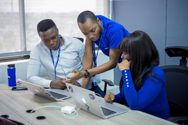 A tech hub in Kigali, Rwanda. Uganda and Rwanda