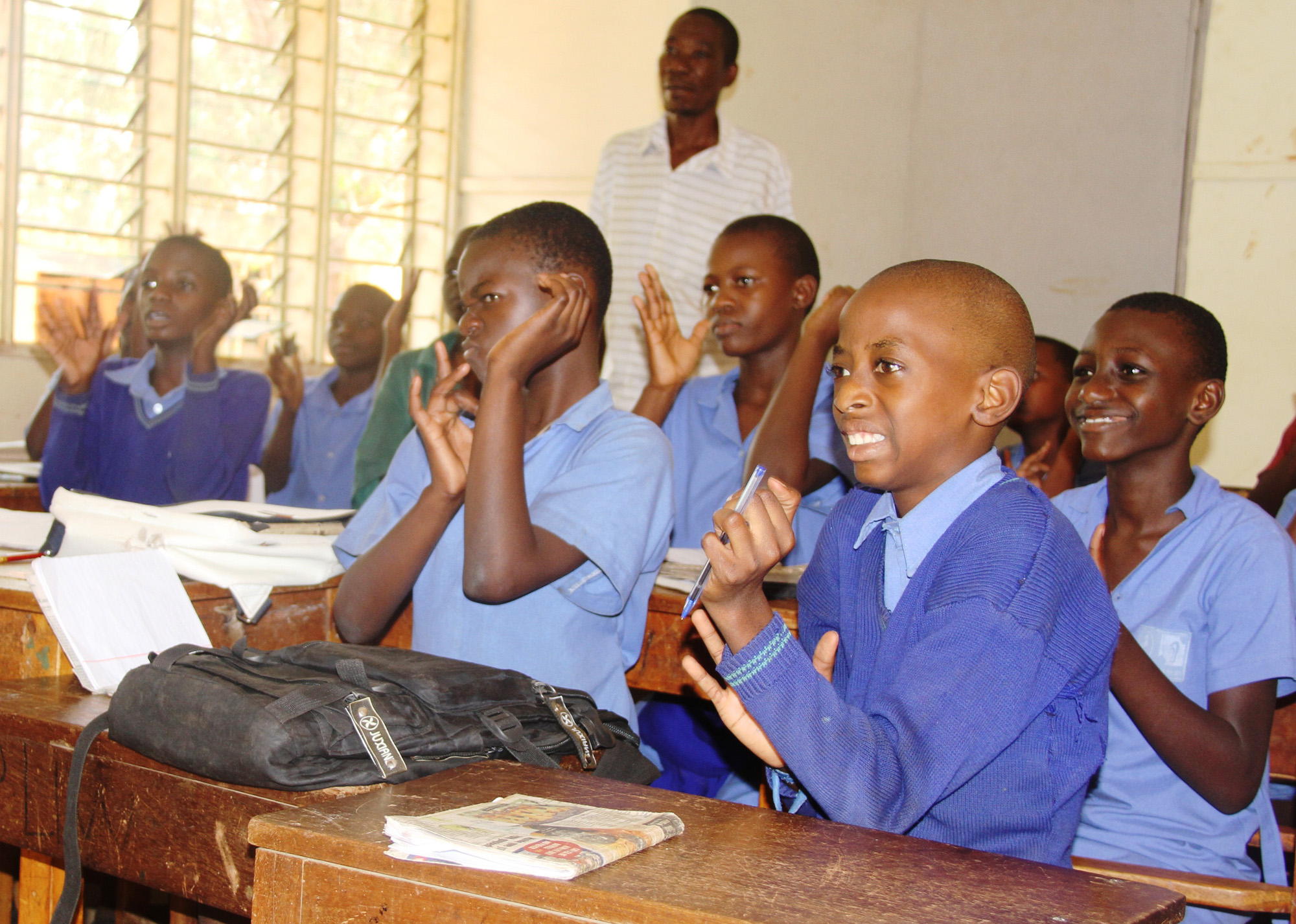 Deaf pupils attending a lesson at Uganda school for the deaf, Ntinda, Kampala. Activitists have pettitioned