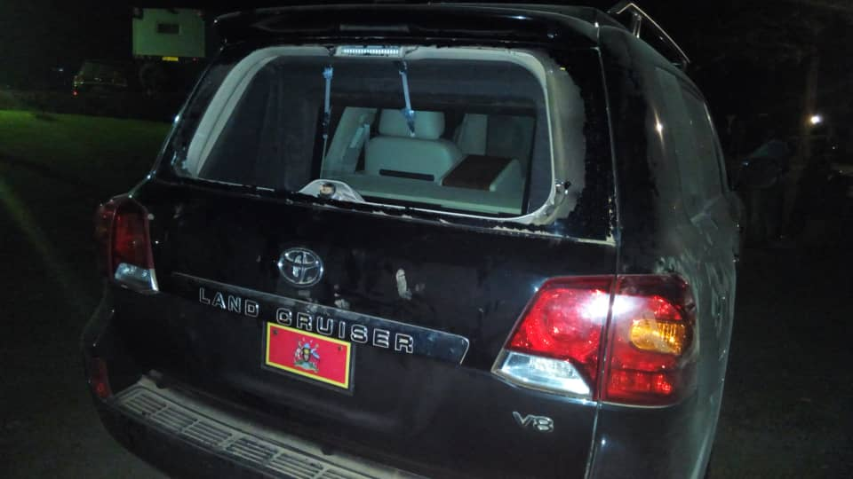 A presidential car is alleged to have been smashed by Wadri's supoorters in the August 13 Arua scuffle (FILE PHOTO)