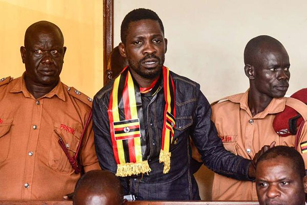 Kyadondo East MP Robert Kyagulanyi, Arua Municipality MP-Elect, Kassiano Wadri and 32 others have been granted bail by Gulu Resident Judge Stephen Mubiru Monday August 27 (PML Daily PHOTO)