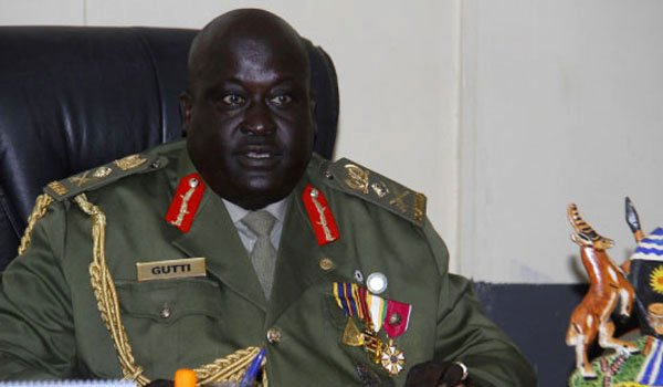 Chairman of General Court Martial, Gen. Andrew Gutti has adjourned ex-IGP Gen Kale Kayihura bail application hearing. (PML Daily PHOTO)