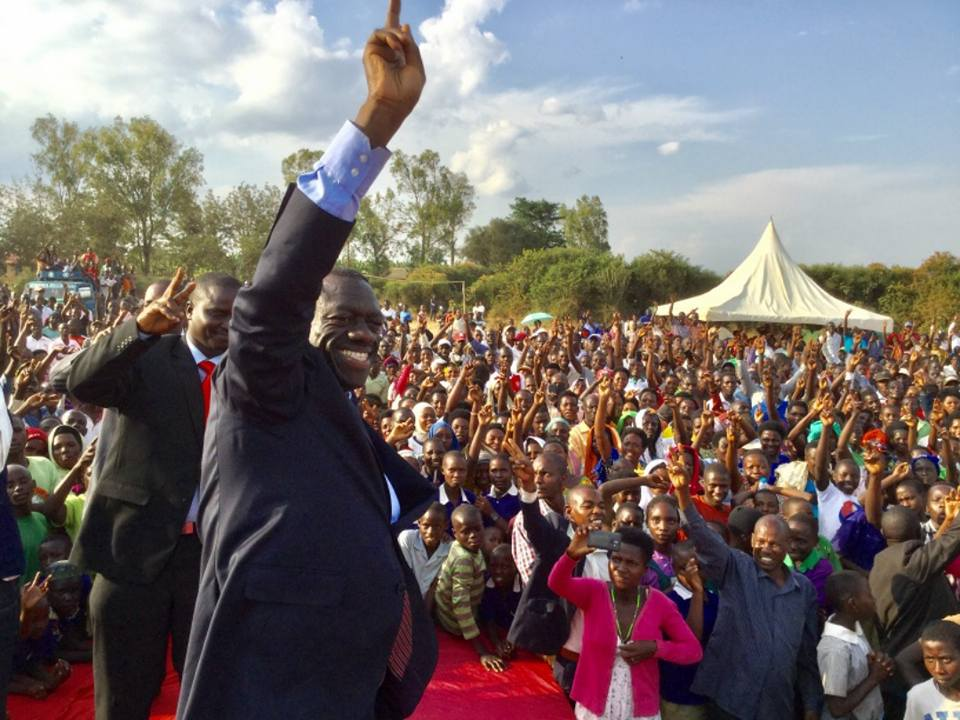 Ex-FDC party president Kiiza Besigye and other party leaders flocked Endinzi Town Council, Isingiro District, on Friday August 10 to celebrate the win bashing media reports of internal conflicts (PML Daily PHOTO)