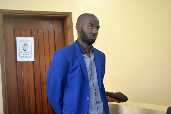 Mowzey Radio murder suspect Troy Wamala appearing before the court (PHOTO/File)