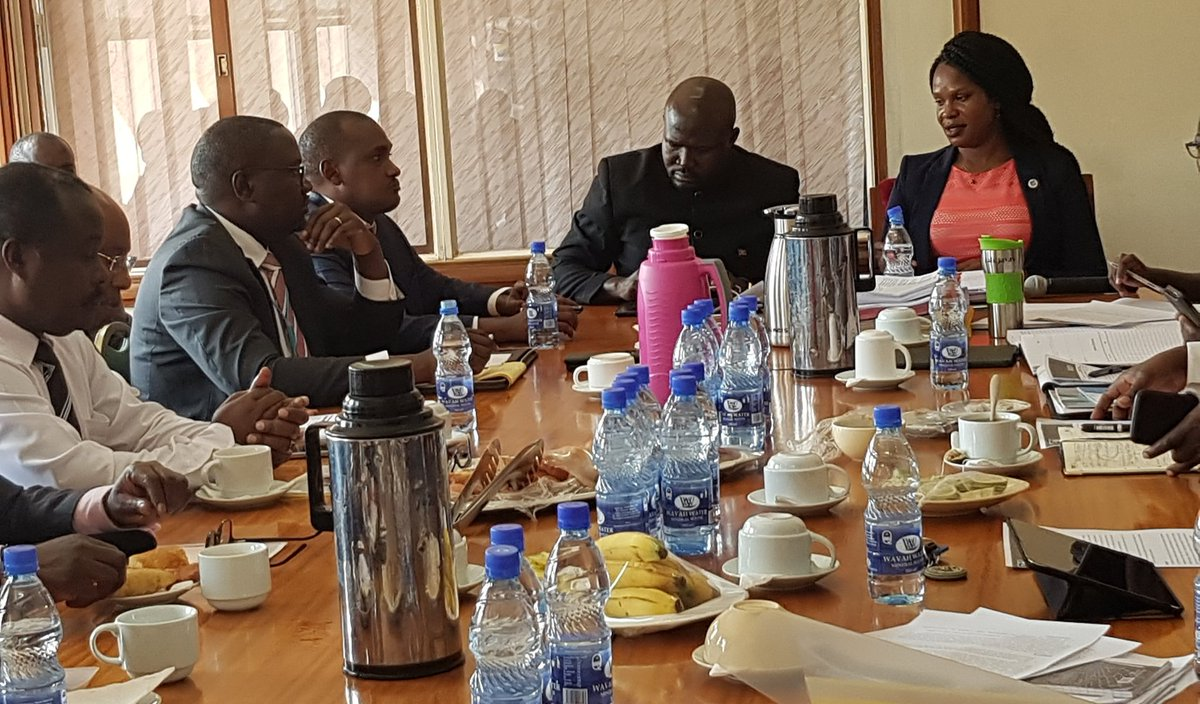 ICT Minister Frank Tumwebaze appearing before the Parliamentary Committee of Finance, where he had been summoned to leave queries on the recent ban on airtime scratch cards (PML Daily Photo)