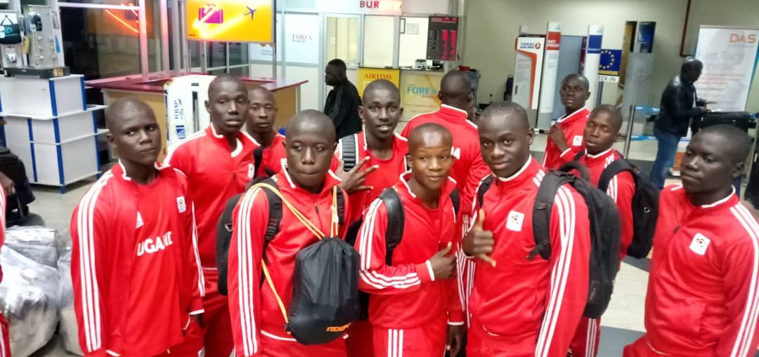 Some of the Cubs players at Entebbe Airport on  Tuesday morning (photo by FUFA media)