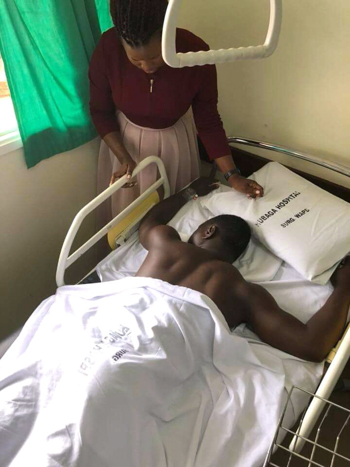 Mityana Municipality MP Francis Zaake Butebi still stuck in Mulago Hospital, pending for medical examination before cleared to travel abroad for treatment. (PML Daily PHOTO)