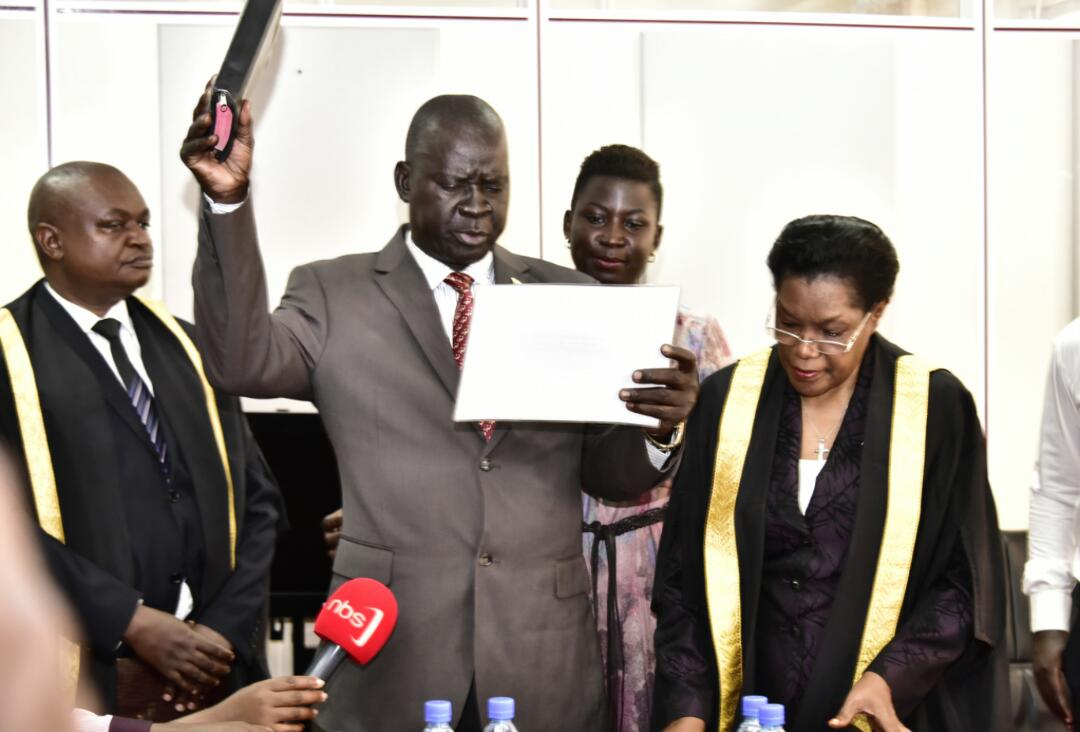 Arua Munivipality MP-Elect Kassiano Wadri has on been sworn in by the Deputy Speaker Jacob Oulanyah (FILE PHOTO)