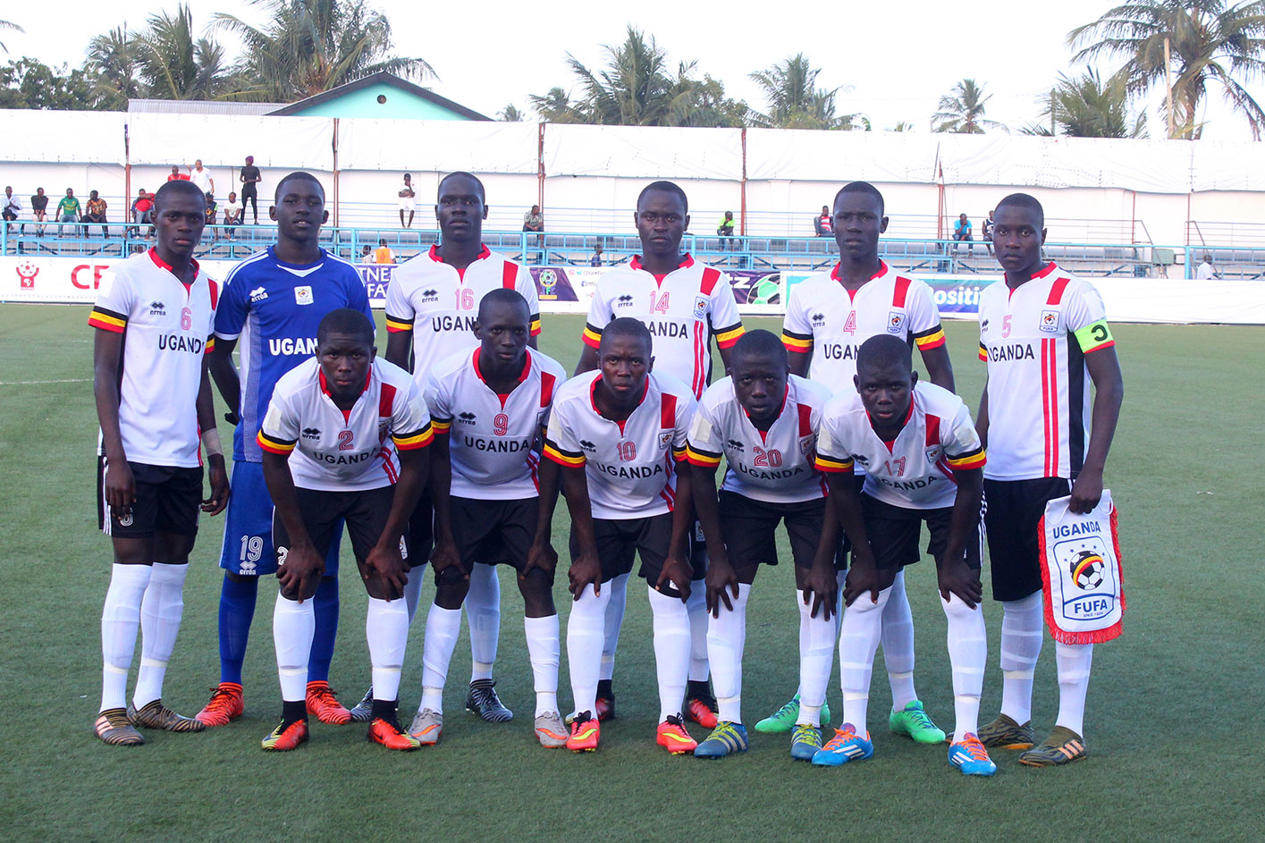 The Uganda Cubs team that is expected to start against Djibouti on Wednesday (Photo by FUFA Media)