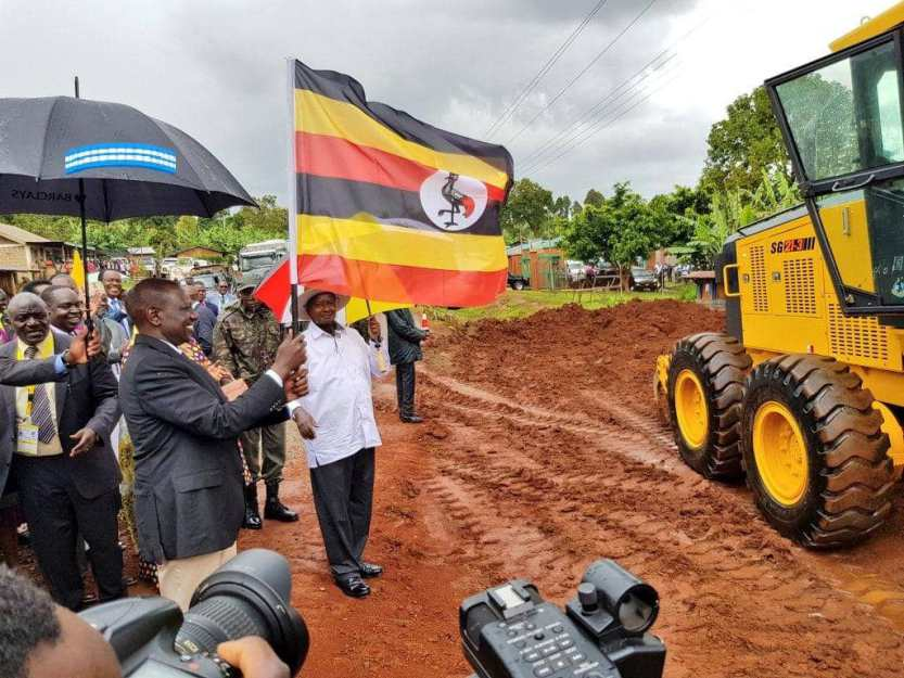 President Museveni is joined by Kenyan Vice president officiate the