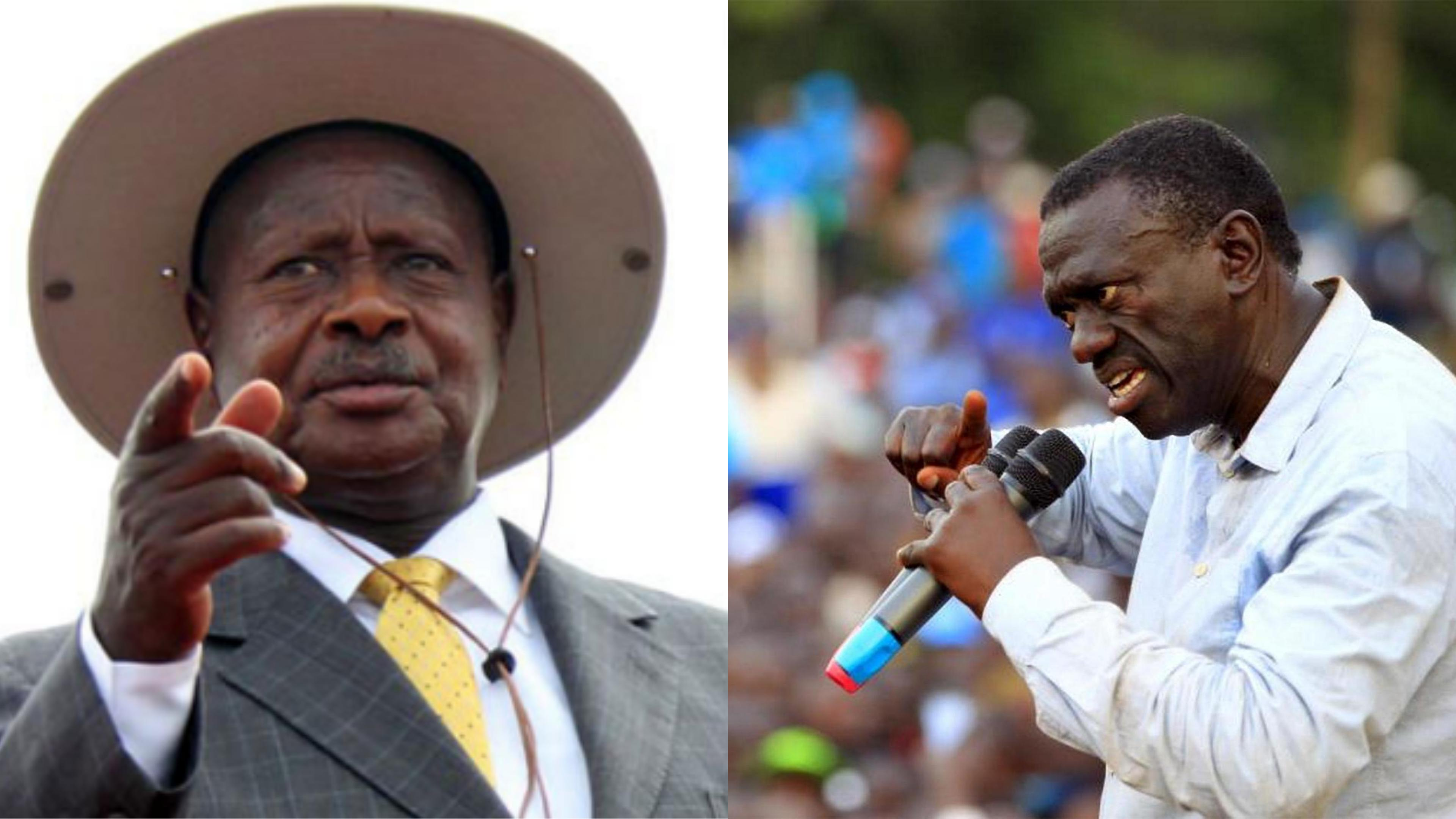 NRM chairman, President Museveni and ex-FDC party President Dr. Kizza Besigye camp in Arua to canvas votes for their candidates ahead of the hotly contested Arua Municapality MP by-elections (FILE PHOTO)