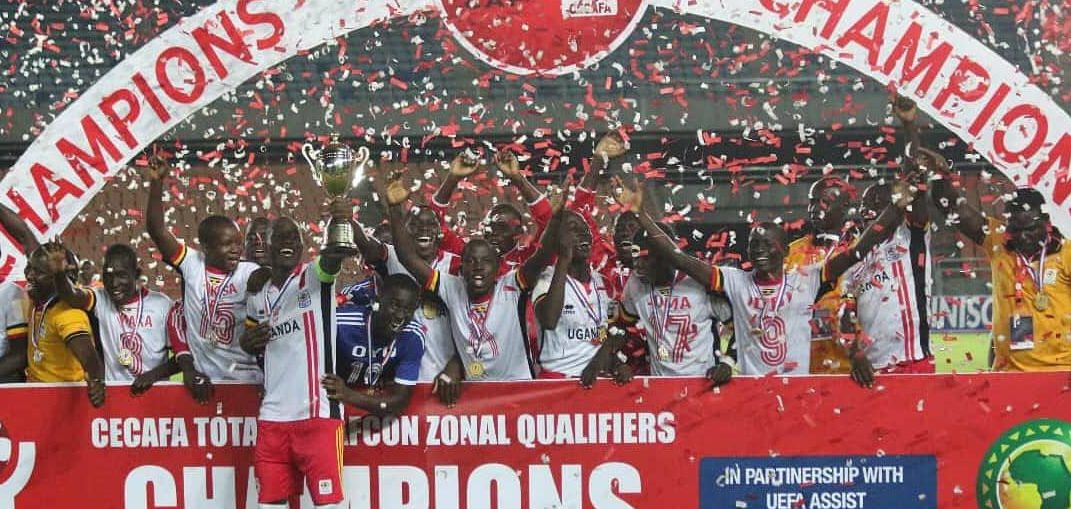 Uganda Cubs players celebrate winning the Regional qualifiers on Sunday (Photo by FUFA Media)