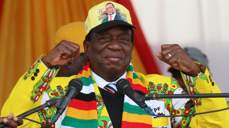 Emmerson Mnangagwa was declared the winner in Zimbabwe's first presidential election ...
