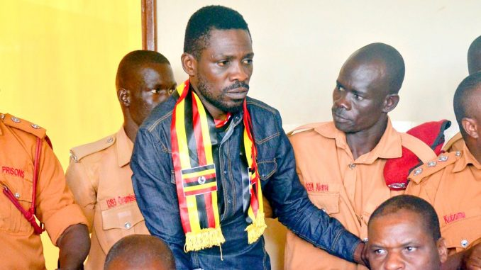 Kyadondo East MP Robert Kyagulanyi alia Bobi Wine, Arua Municipality MP-Elect Kassiano Wadri and 10 others were on Monday August 27 granted bail by Gulu Resident Judge Stephen Mubiru (PML Daily PHOTO)