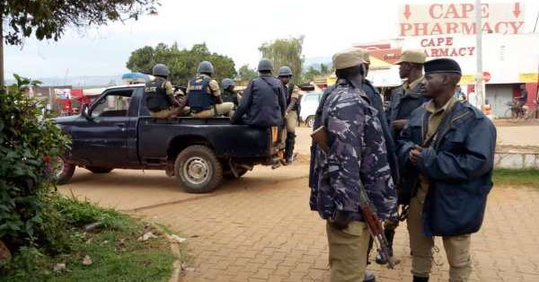 Heavy deployment in Kamwokya, a Kampala suburb, as Bobi Wine protest renew tension in the Kampala Metropolitan area (PML Daily PHOTO)