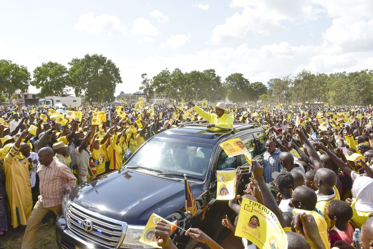 NRM national  Chairman, Museveni to campaign for party flag bearer ahead of Thursday polls. (PPU PHOTO)