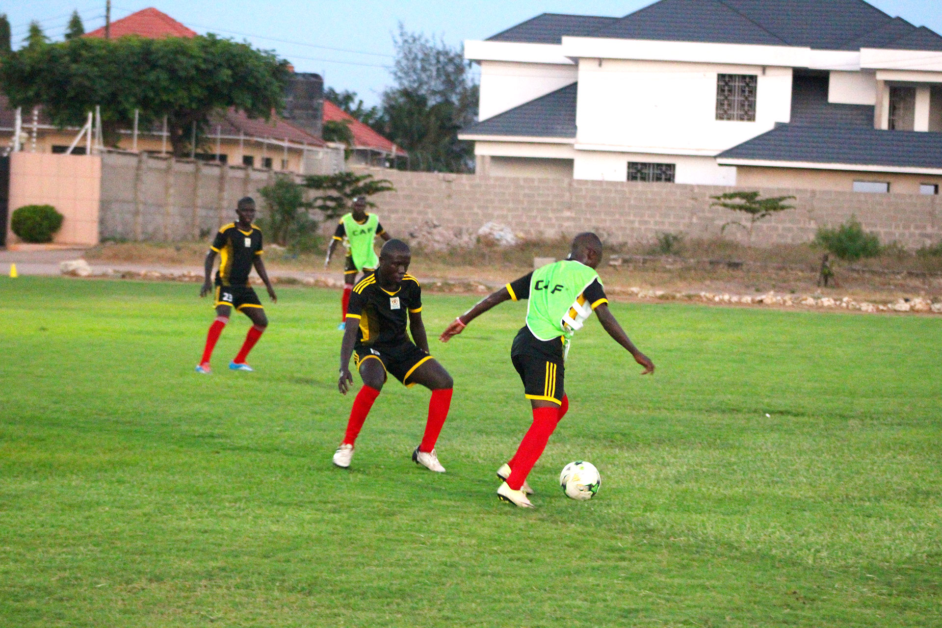 The Cubs in training after arriving in Tanzania (photo by FUFA Media)