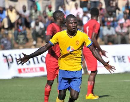 Striker Patrick Kaddu was on target as kCCA defeated Township Rollers on Saturdy afternoon (file photo)