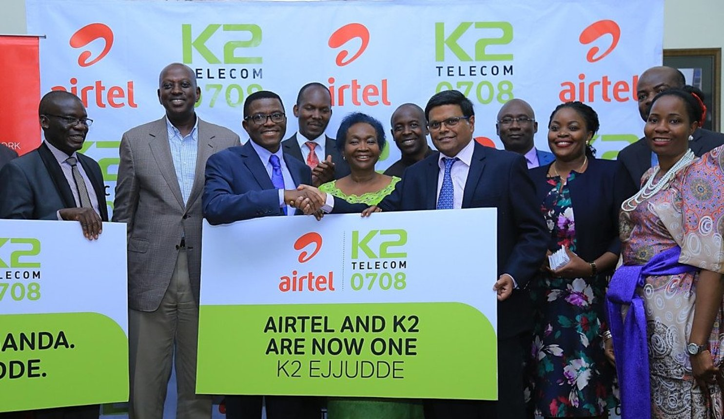 Airtel Ug and K2 Telecom signed a brand endorsement Agreement that will saw K2 subscribers enjoy all the services offered by the Airtel network (FILE PHOTO)