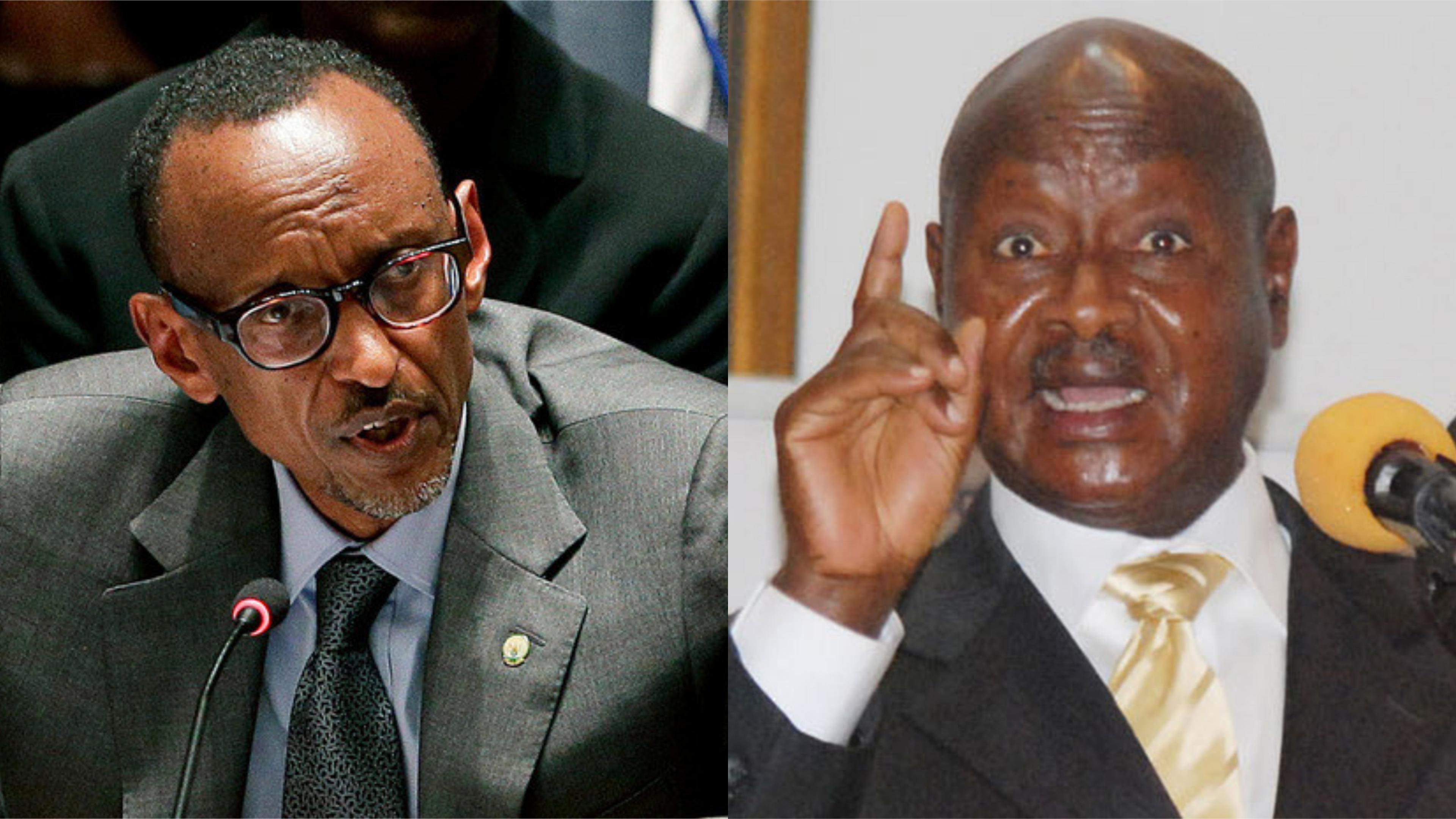 (R-L) Presidents Yoweri Museveni of Uganda and Paul Kagame of Rwanda. (PHOTO/File)