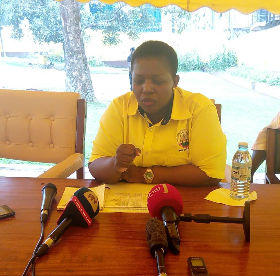 NRM Secretary General Rt. Hon Justine Kasule Lumumba