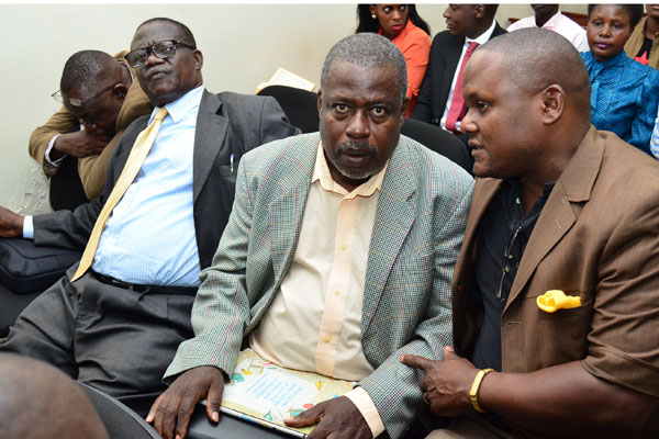 Former Works Minister Abraham Byandala and UNRA Executive Director Ssebuga Kimeze acquited as Businessman Appolo Senkeeto charged of embezzling shs.24.7billion to serve a 10 year sentences (PML Daily PHOTO)