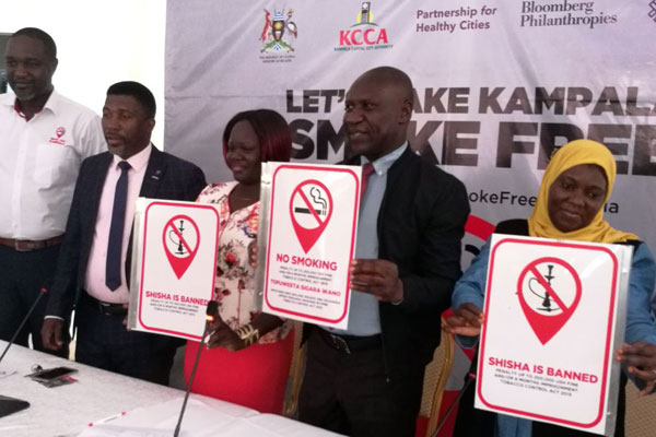 The Kampala Central Mayor Mr Charles Sserunjogi said everybody must abide by the law and embrace the Tobacco Control Act. Photo by Damali Mukhaye