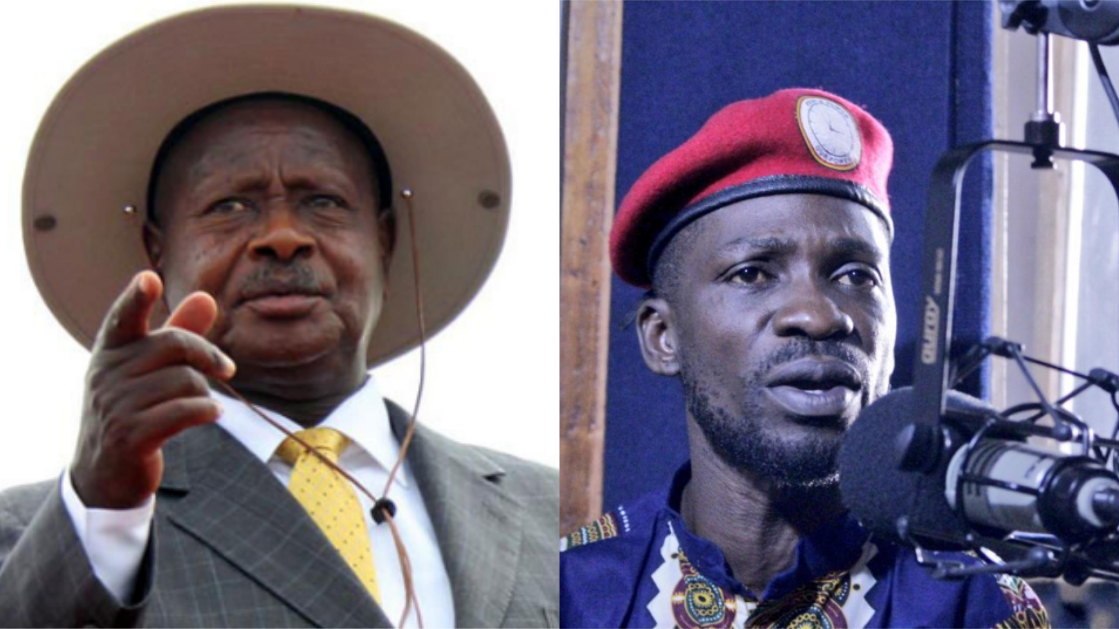 Popular opposition figure Bobi Wine has slammed president Museveni over scientific poll (PHOTO/File)
