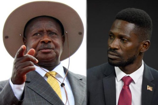 President Museveni has vowed to handle MP Robert Kyagulanyi following the widespread protests in Kampala, Mukono, Mityana (PML Daily PHOTO)