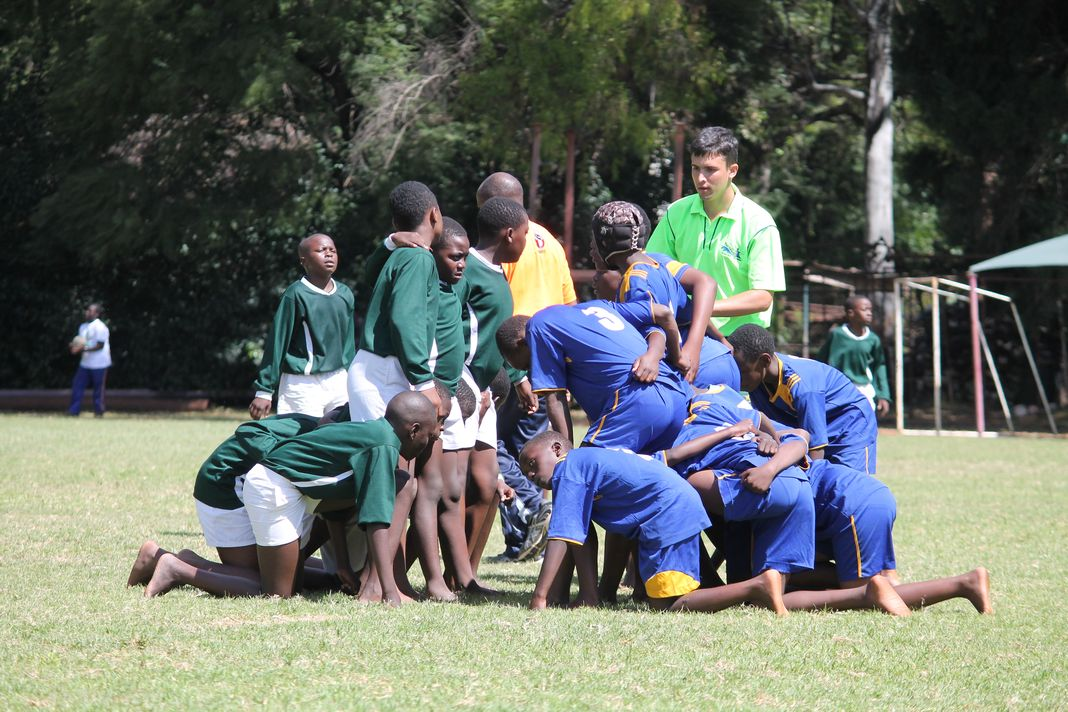 Some of the teams prepare for a scrum at last year's tournament (photo by Agencies)