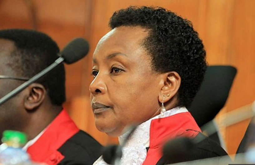 Kenyan Deputy Chief Justice Philomena Mwilu has on Tuesday August 28 been arrested and whisked away by Kenyan Police (NET PHOTO)