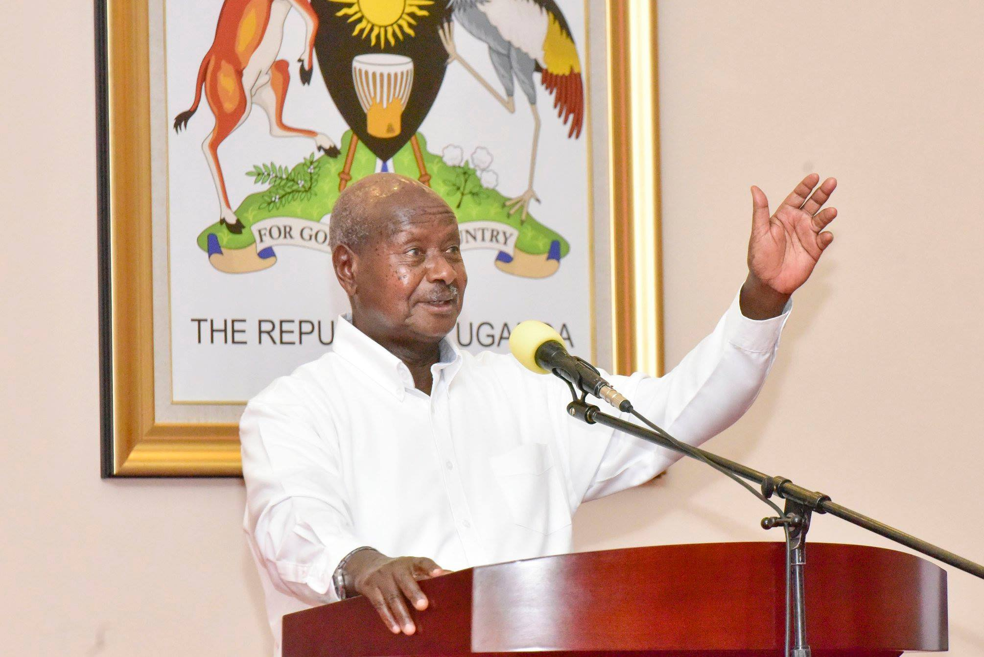 President Museveni addresses LC 5 Chairpersons at State House Entebbe (PPU PHOTO)