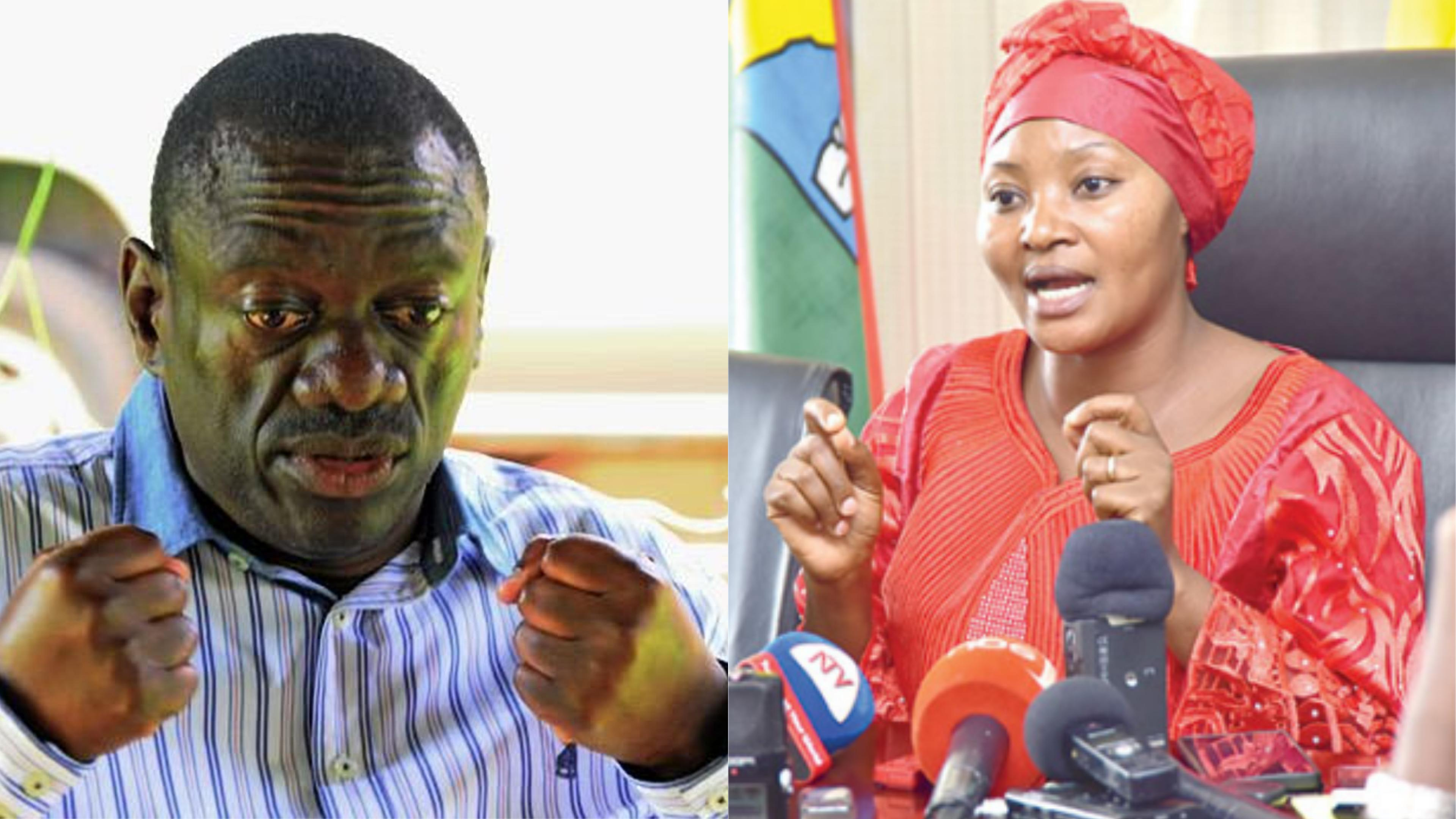 Ex-FDC Party President, Dr. Kiiza Besigye has lashed out at ex-LoP Winnie Kiiza for her deliberations on the recent reshuffle by Patrick Amuriat that dropped her for Betty Aol Ochan (PML Daily PHOTO)