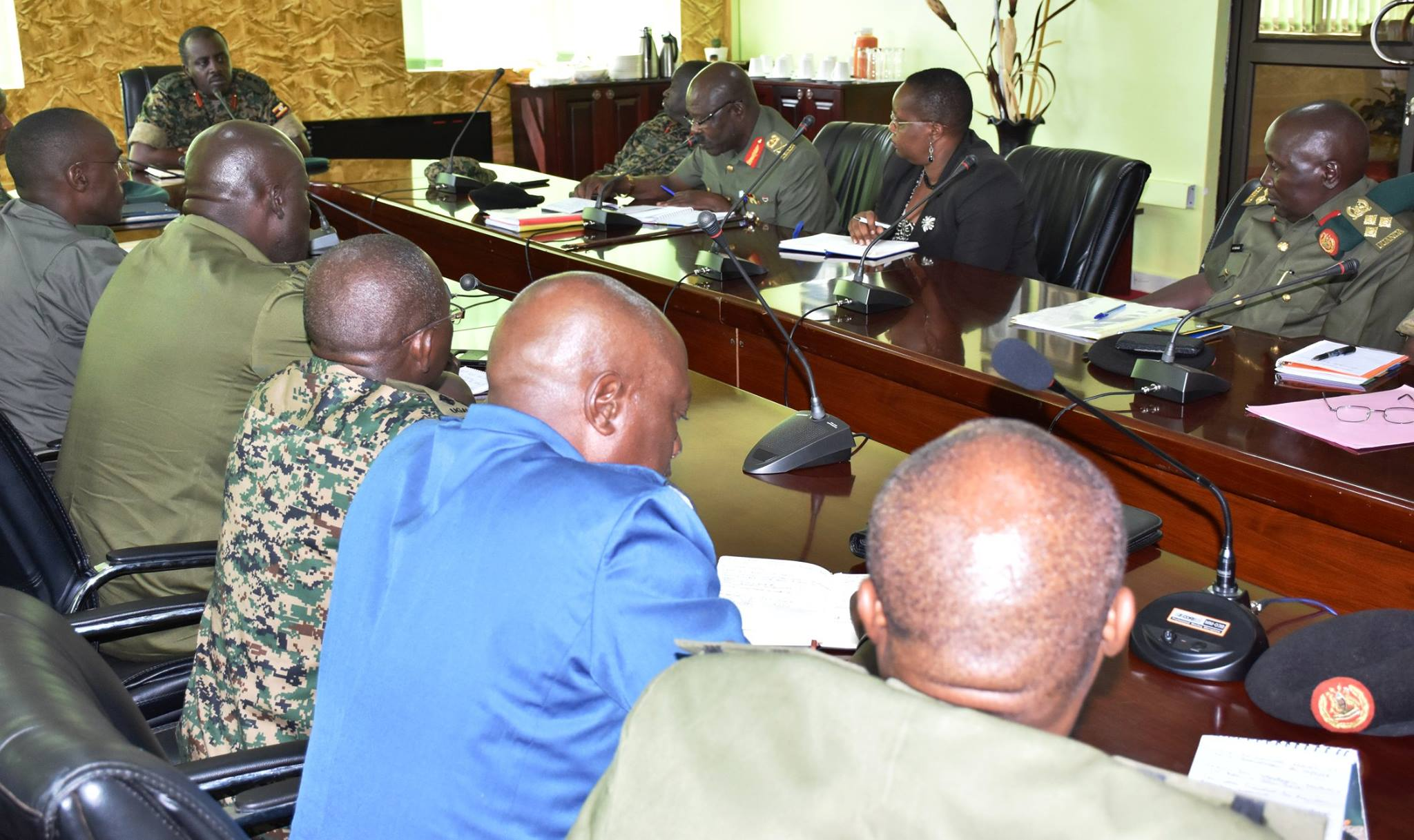 CDF Gen. David Muhoozi has Monday September 10 launched the Uganda National Defence College (NDC) steering committee at army headquarters in Mbuya, Kampala (PHOTO: UPDF)