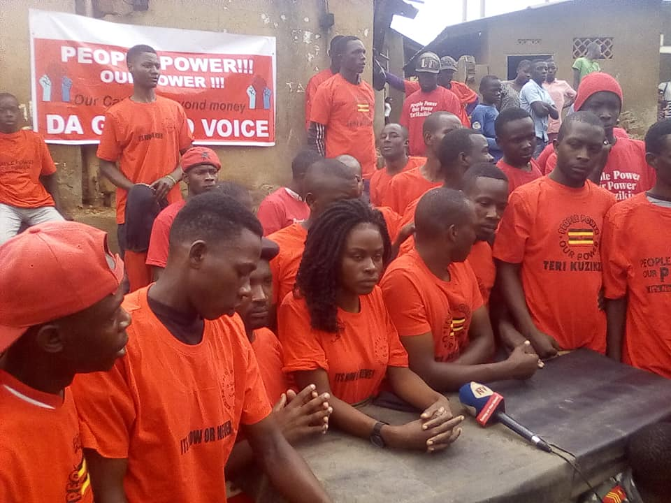 A section of Youths under the umbrella affiliation, Ghetto Youths, came out to denounce the President's shs.4bn offer at the Special Project launch in Nakawa, Uganda (FILE PHOTO)